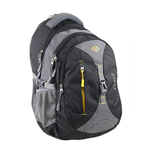 Finer Casual Backpacks for Men Women|College Bags|Office Laptop Bagpacks| Trendy Light Weight Bags|Fancy Travel Backpack Water Resistance|Tool Bags| 34 litres (with raincover) (Grey & Black)
