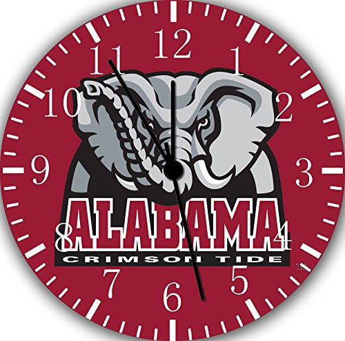 Alabama Crimson Tide Frameless Borderless Wall Clock W182 Nice For Gift or Room Wall (Alabama Crimson Tide Alarm)