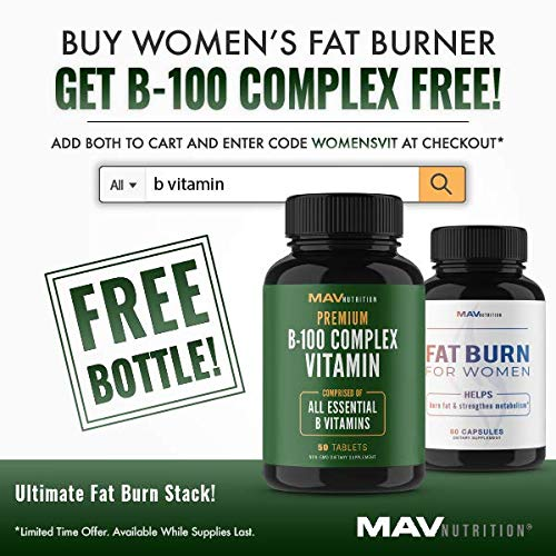 Womens Fat Burner Weight Loss Pills Designed for Increasing Healthy Metabolism, Supporting Energy Levels, Fat Loss, and Increasing Tone; Non-GMO, Gelatin-Free; 60 Vegetarian Capsules for Women by MAV NUTRITION (Image #7)