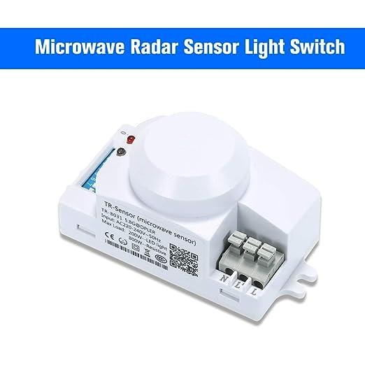 OWSOO Interruptor de Sensor de Movimiento AC220-240V Radar ...