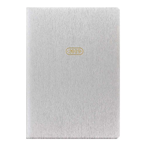 Letts 2019 Sparkle Weekly Planner, Silver, 8-1/4 x 5-7/8, Multilingual (C081193-2019)
