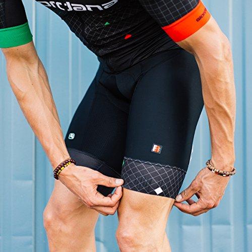 Giordana 2019 Men's FR-C Pro Diamante Italia Cycling Bib Shorts - GICS18-BIBS-FRCP-DITA (Black/Italia - L) -