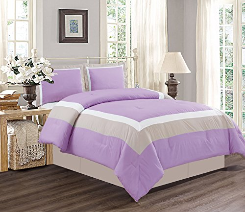 lilac full size comforter - 3