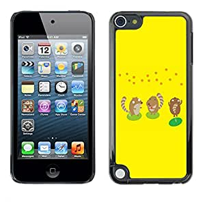 SoulCase / Apple iPod Touch 5 / Cute Squirrels Hamsters Cartoon / Delgado Negro Plástico caso cubierta Shell Armor Funda Case Cover