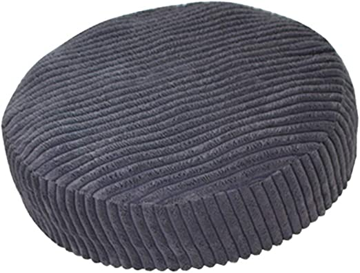 Anti-Slip Breathable Round Bar Stool Chair Cover Barstool Slipcover Deep Grey