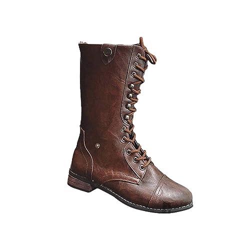 Botines Planos de Mujer de Estilo Vintage Zapatos Botas ...