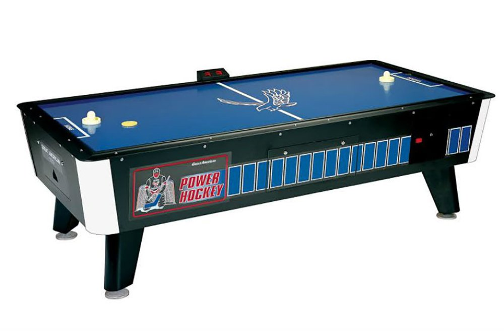 Great American 8 Ft Face-Off Power Hockey Coin-Operated with Side Scoring 8PHCS/E by Great American