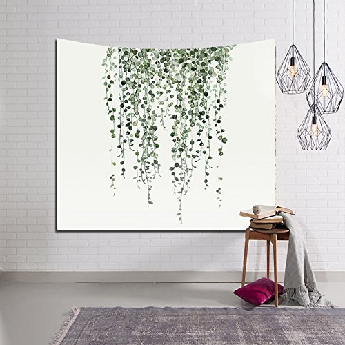 HYSENM Tropical Plant Monstera Tapestry Banana Leaves Wall Art Hanging Blanket for Bedroom Dorm Décor, Vine 59x51 Inches by Hysenm