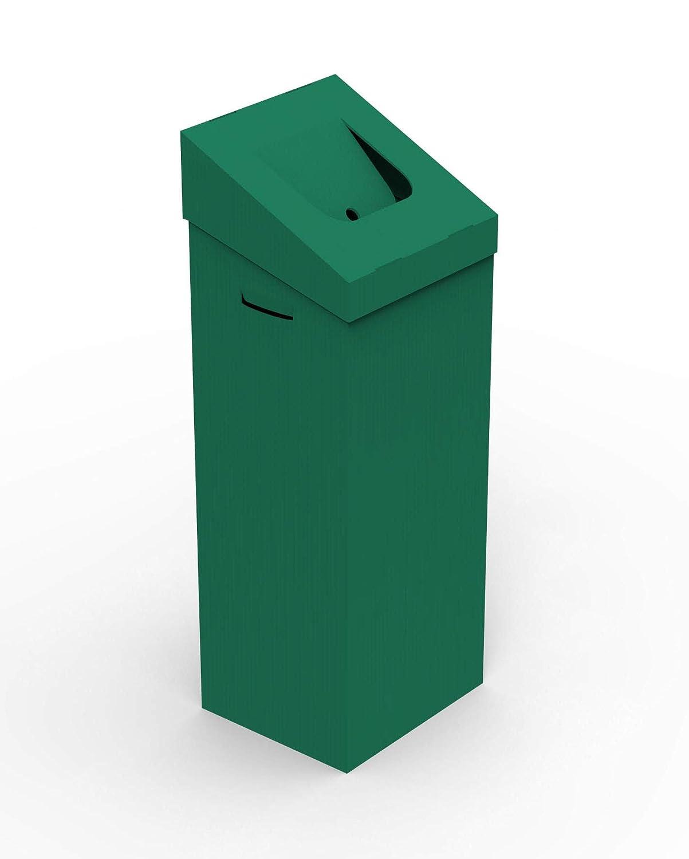 papelera DE Carton Verde 100L 35X30X95Cm AUTOMONTABLE
