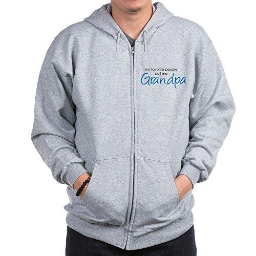 CafePress Favorite People Call Me Grand Zip Hoodie, Classic Hooded Sweatshirt with Metal Zipper Heather Grey ()