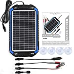 SUNER-POWER-12V-Solar-Car-Battery-Charger-Maintainer-Portable-8W-Solar-Panel-Trickle-Charging-Kit-for-Automotive-Motorcycle-Boat-Marine-RV-Trailer-Powersports-Snowmobile-etc