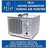 Felji Commercial Industrial Ozone Generator 3500mg Pro Air Purifier Mold Mildew Odor, Silver