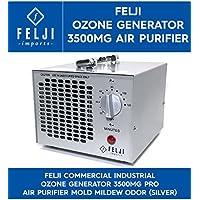 Felji Commercial Industrial Ozone Generator 3500mg Pro Air Purifier Mold Mildew Odor, Silver