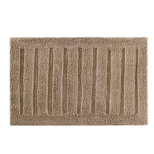 - Tomoro Non-Slip Bathroom Rug Super Absorbent Soft Cotton - Luxury Hotel Linens Non-Skid Door and Bath Mat with Non-Slip Rug Pad