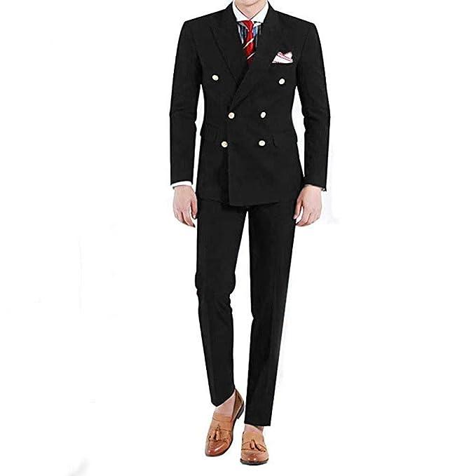 Amazon.com: RONGKIM traje de 2 piezas para hombre, corte ...