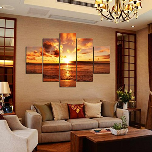 Rain queen sunrise from sea huge size no frame modern for App decoracion interiores