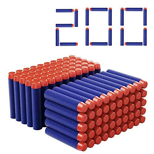 51pLE8XUUgL. SS500 Color: azul. Tamaño: 7.2x 1.2 cm Los dardos son compatibles para cualquier dispositivo N-Strike Aguantan mucho: espuma azul blanda y punta naranja un poco rígida