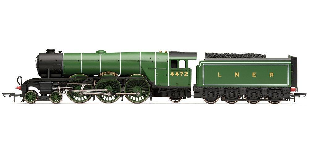 Hornby Railroad 00 LNER - Modellino in scala di Locomotiva di prima classe A1 Flying Scotsman con effetti sonori TTS