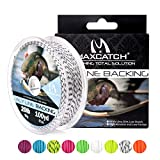 M MAXIMUMCATCH Maxcatch Fly Line Backing for Fly Fishing Braided 20/30lb 100yards (Black&White