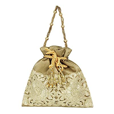 Purse Collection Antique Colour Beautiful Drawstring Potli Purse For Womens
