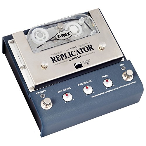 T-Rex Engineering REPLICATOR-JUNIOR Compact Analog Tape Echo Guitar Effects Pedal with Active Tap Tempo ()