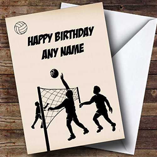 (Volleyball Personalized Birthday Greetings Card)