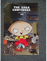 Family Guy Stewie The Saga Continues 2009 Star Wars Poster Comic Con Exclusive 11x17 FG1000