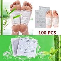 Cerotti Detox Piedi, Kapmore 100pcs Cerotto Disintossicante viene utilizzato per rimuovere le tossine dal corpo, alleviare il dolore e la cura