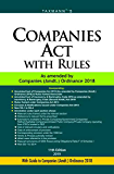 Companies Act with Rules-As Amended by Companies (Amdt.) Ordinance 2018 (11th Edition 2019)