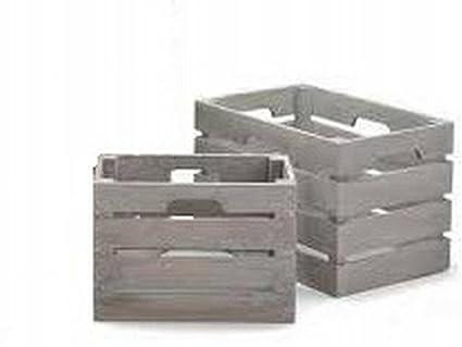ARTE REGAL Set 2 cajas de madera blancas 24 x 15.5 x 18cm y 29 x