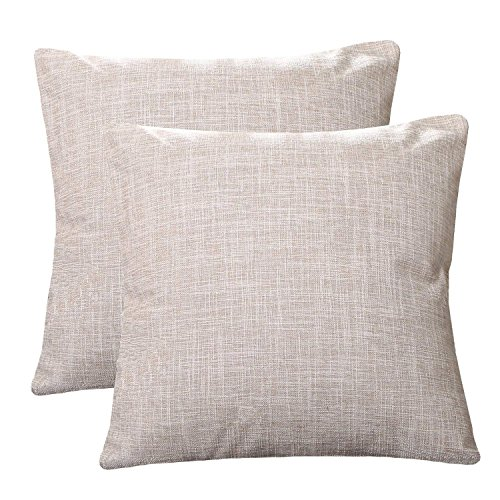 U'Artlines Pillowcase Covers, Slubbed Linen Pillow Case Decorative Cushion Cover Pillowcase for Sofa Pillow Cover (18