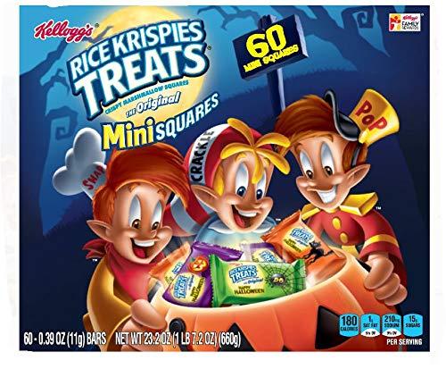 Halloween Rice Krispie Treat Pops (Kellogg's Rice Krispies Treats Halloween Mini Crispy Marshmallow Squares 23.4 oz 60)