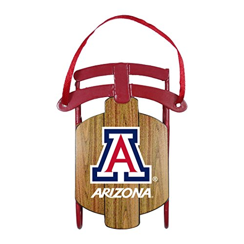 NCAA Arizona Wildcats Metal Sled Ornament by Boelter Brands