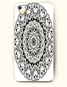 SevenArc Apple iPhone 5 5S Case Moroccan Pattern ( Black Emerald Doodle )