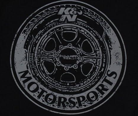 K/&N 88-6111-S Black Small T-Shirt with K/&N Wheels Logo K/&N Engineering