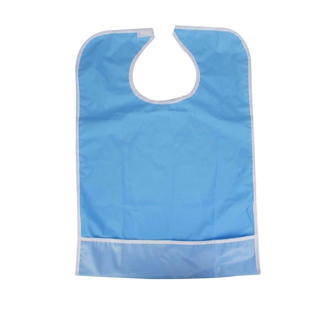 saianke Bib for Elderly防水MealtimeよだれかけプロテクターAidエプロン(ライトブルー) One Size ブルー 22  ブルー B07FJ6PBDP