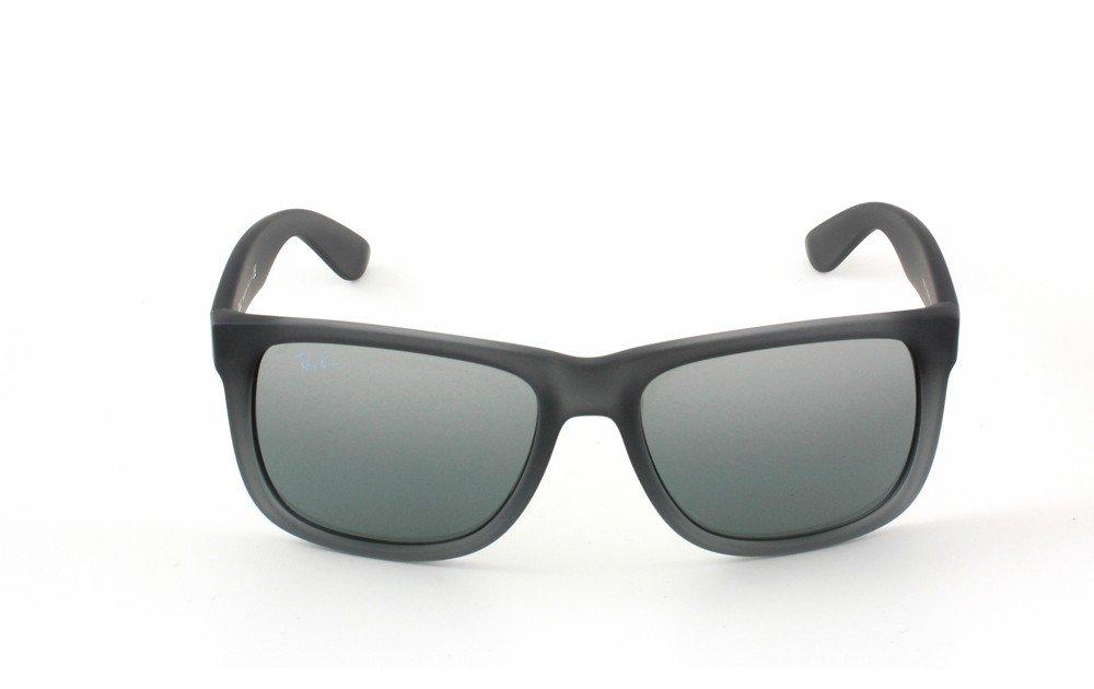 New Ray Ban RB4165 852 88 Justin Rubber Gray Gray Silver Mirror Gradient  Lens 55mm Sunglasses Eyewear 7accd5edba