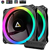 Antec Prizm 140mm RGB Case Fan Radiator - 2 Pack with Controller Hub
