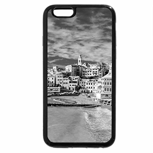 iPhone 6S Case, iPhone 6 Case (Black & White) - beautiful bogliasco on the italian coast