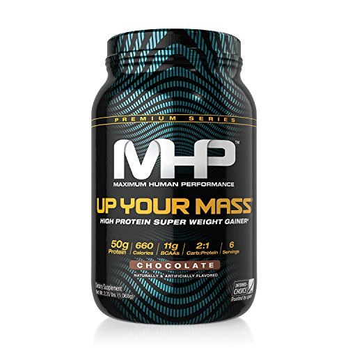 MHP, Up Your Mass High Protein Super Weight Gainer, Chocolate, 2 Pound