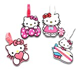 Finex Set of 4 Hello Kitty Travel Luggage ID Tag for Bags Suitcases