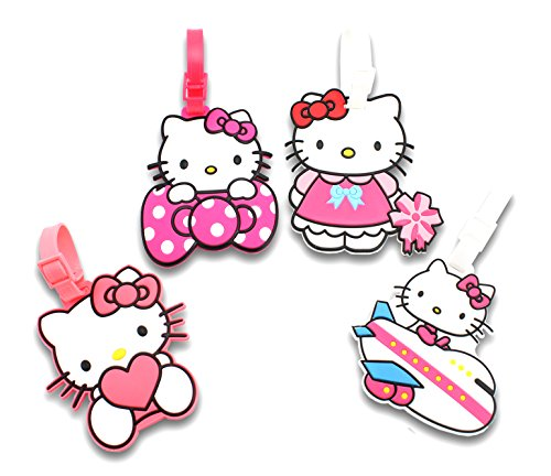 Review Finex Set of 4 Hello Kitty Travel Luggage ID Tag for Bags Suitcases