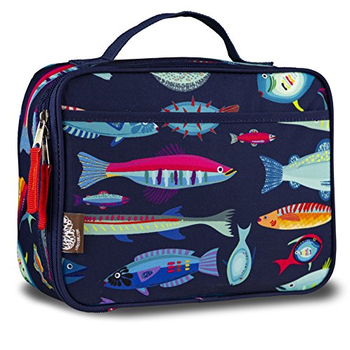 LONECONE Kids' Insulated Fabric Lunchbox - Cute Patterns for Boys and Girls, Sea Food -