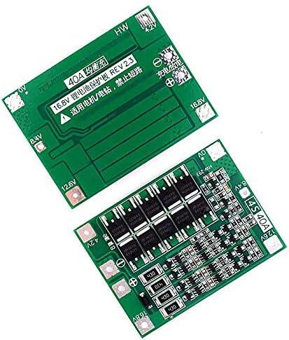 WOVELOT 4S 40a Bater/ía de Litio de Iones de Litio 18650 Cargador Pcb Bms Tablero de Protecci/óN con Balanza para Motor de Perforaci/óN M/óDulo de Celda de Lipo de 14.8V 16.8V