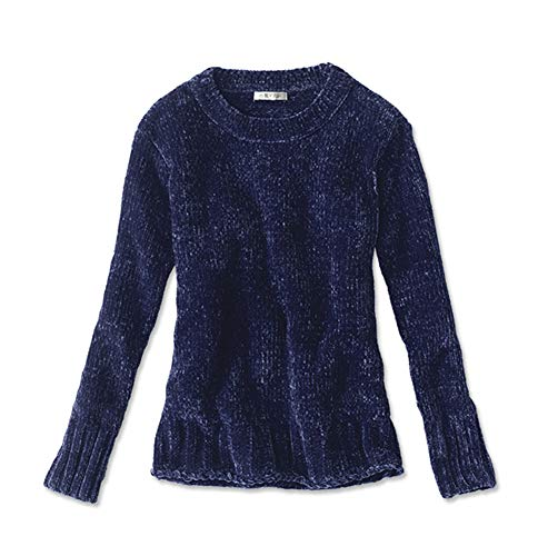 Orvis Women's Chenille Relaxed Sweater, Pacific Blue, Small (Chenille Color)