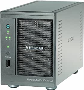 Netgear RND2000-200 ReadyNAS Duo v2 Diskless 2-Bay/USB 3.0 Network Storage for Home/SoHo Users - Latest Generation