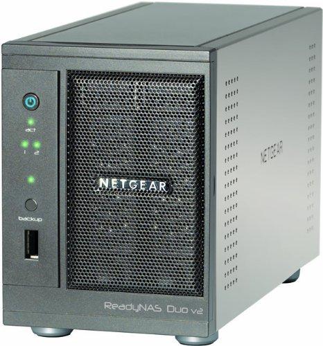 Netgear RND2000-200 ReadyNAS Duo v2 Diskless 2-Bay/USB 3 0 Network Storage  for Home/SoHo Users - Latest Generation
