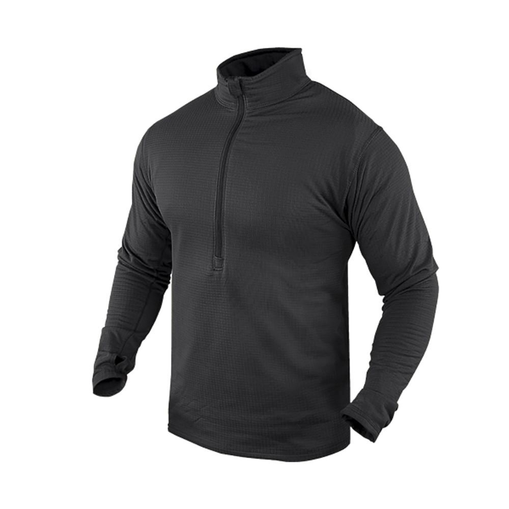 CONDOR 603-002-XL BASE II Zip Pullover Black XL Condor Outdoor 603-Black-XL