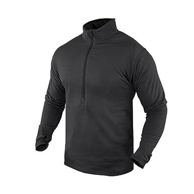 80e37d9e76c Condor Outdoor BASE II Zip Pullover Long Sleeve Fleece Shirt  603 BLACK-  Small S
