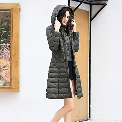 Cappotto Casual Army Cappuccio Invernale Lunga Imbottito Da A Donna Con Green Piumino Manica Azw Lungo Giacca Y6xSSH